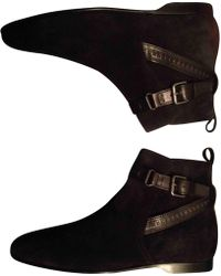 Louis Vuitton - Black Suede Boots - Lyst
