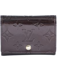 Louis Vuitton - Burgundy Patent Leather Wallets - Lyst