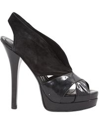 845f8f3e62d Fendi Cecilia Platform Wedge Sandals in Black - Lyst