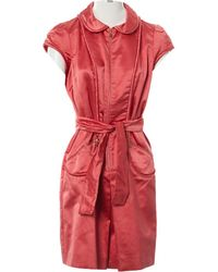 Louis Vuitton - Pre-owned Silk Mini Dress - Lyst