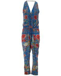 Roberto Cavalli - Multicolour Silk Jumpsuits - Lyst