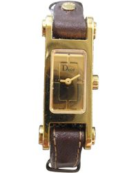Dior - Gold Gold Plated Watches - Lyst