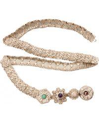 Chanel - Gold Metal Belts - Lyst
