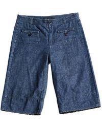 Marc Jacobs - Blue Cotton Shorts - Lyst