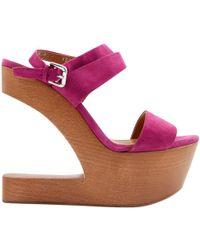 Ralph Lauren Collection - Pink Suede Heels - Lyst