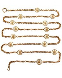 Chanel - Cc Long Necklace - Lyst