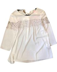 Claudie Pierlot - White Polyester Top - Lyst
