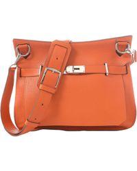 Hermès - Pre-owned Jypsiere Orange Leather Handbags - Lyst