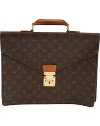 Louis Vuitton - Pre-owned Vintage Serviette Ambassadeur Brown Cloth Bag - Lyst