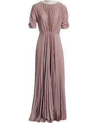 Dries Van Noten - Pink Polyester Dress - Lyst