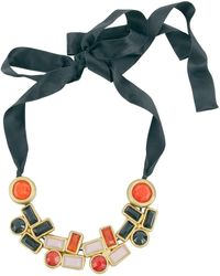 Marni - Black Horn Long Necklace - Lyst
