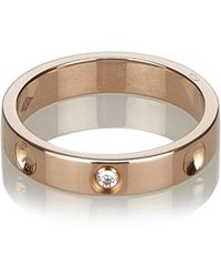 Louis Vuitton - Pre-owned Empreinte Pink Gold Ring - Lyst