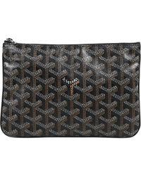 Goyard - Pre-owned Black Cloth Clutch Bags - Lyst