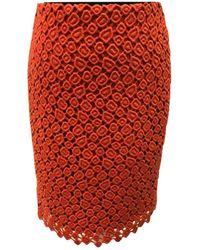 Max Mara - Red Wool Skirt - Lyst