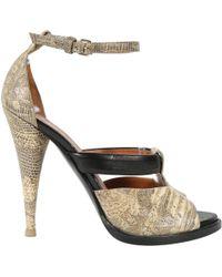 c8f58338d095 Givenchy - Leather Platform Sandals Black - Lyst · Givenchy - Beige Lizard  Sandals - Lyst