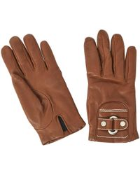 Céline - Pre-owned Brown Leather Gloves - Lyst