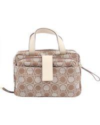 Ferragamo - Pre-owned Beige Cloth Clutch Bags - Lyst