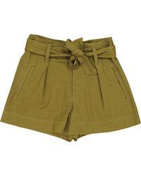 Étoile Isabel Marant - Pre-owned Khaki Cotton Shorts - Lyst