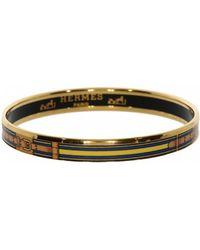 Hermès - Vintage Bracelet Email Gold Metal Bracelets - Lyst