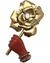 Cartier - Vintage Other Yellow Gold Pins & Brooches - Lyst