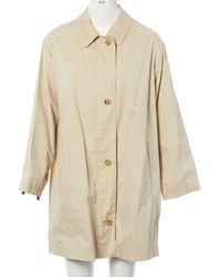 Burberry - Pre-owned Beige Synthetic Coat - Lyst