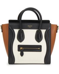Céline - Pre-owned Nano Luggage Leather Tote - Lyst