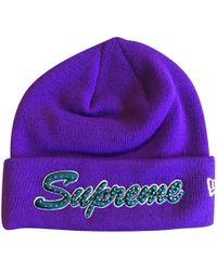 Supreme - Chapeau / bonnet - Lyst