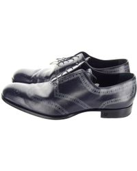 3d9577fc5bc Lyst - Louis Vuitton Damier Pointed-toe Oxfords in Black for Men