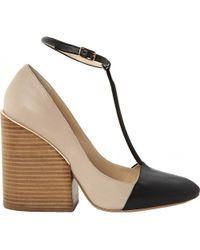 Pre-owned - Leather heels Chloé wC98e4iIP