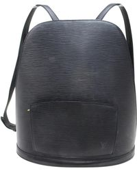 Louis Vuitton - Pre-owned Black Leather Backpacks - Lyst