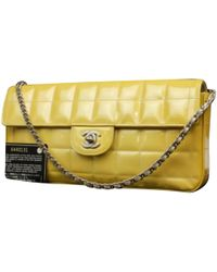 7f263e173ad7 Lyst - Sac à main en cuir Chanel en coloris Marron