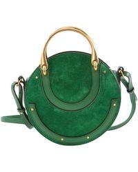 Chloé - Pixie Green Suede Handbag - Lyst