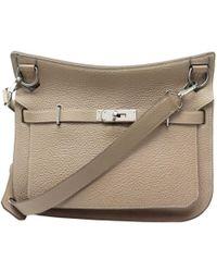 26e7a9d0d05 Hermès Jypsiere Black Leather Handbag in Black - Lyst