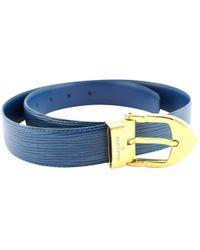 4537034a7055 Louis Vuitton Leather Belt in Blue - Lyst