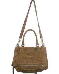 Givenchy - Pandora Camel Leather Handbag - Lyst