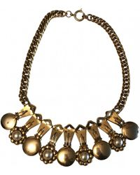 Moschino - Pre-owned Vintage Gold Metal Necklace - Lyst