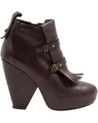 Vanessa Bruno - Pre-owned Brown Leather Ankle Boots - Lyst