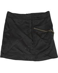 Burberry - Black Viscose Skirt - Lyst