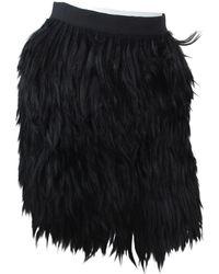 Proenza Schouler - Black Fur Skirt - Lyst