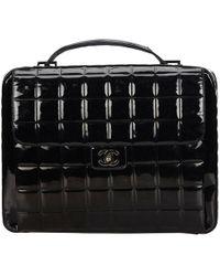 Chanel - Patent Leather Handbag - Lyst