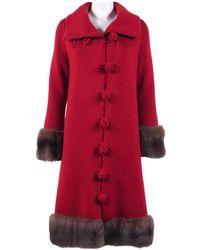 Oscar de la Renta Red Wool