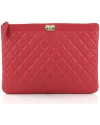 1184a4ba3068 Chanel Chevron Le Boy Bag Pink Leather in Pink - Lyst