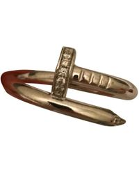 Cartier - Pre-owned Juste Un Clou White Gold Ring - Lyst