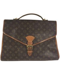 Louis Vuitton - Vintage Brown Cloth Handbag - Lyst