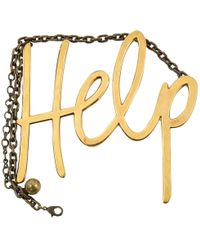 Lanvin - Pre-owned Gold Metal Necklaces - Lyst