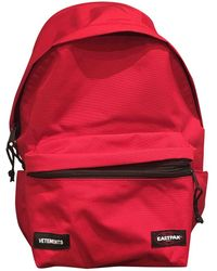 Vetements - Red Cotton Backpacks - Lyst