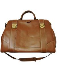 Ferragamo - Leather Satchel - Lyst