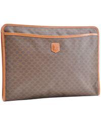 f956cc57d954 Vestiaire Collective · Céline - Cloth Clutch Bag - Lyst