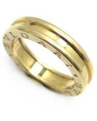 BVLGARI - B.zero1 Gold Yellow Gold Ring - Lyst