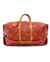 Louis Vuitton - Vintage Keepall Red Cloth Travel Bag - Lyst